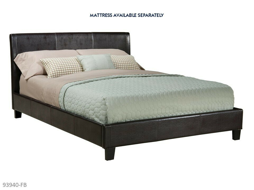 New York Bed with Headboard Footboard Rails by AWF Imports (Full)
