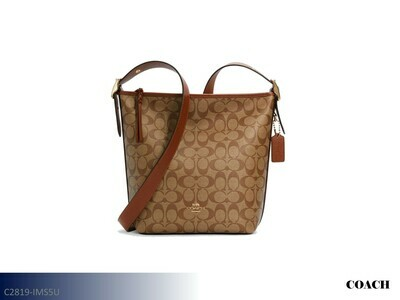 Val Khaki-Redwood Handbag by Coach (Duffle)