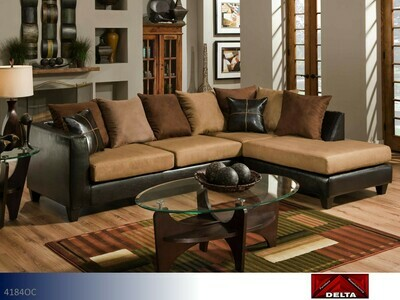 Osaka Charcoal Stationary Sectional by Delta (2 Piece Set)