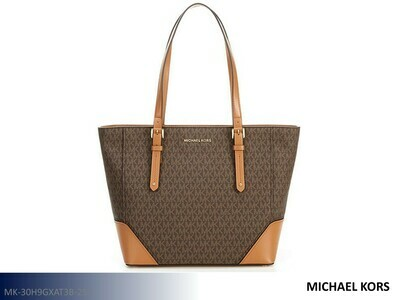 Aria Signature Brown-Acorn Handbag by Michael Kors (Tote)