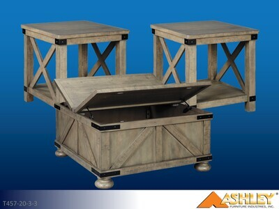 Aldwin Gray Occasional Table Set by Ashley (3 Piece Set)