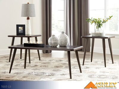 Fazani Dark Brown Occasional Table Set by Ashley (3 Piece Set)