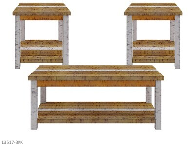 Rustic Retrieve Occasional Table Set by AWF Imports (3 Piece Set)