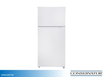 White 18 cu ft Refrigerator with Top Mount Freezer by Conservator (18 Cu Ft)