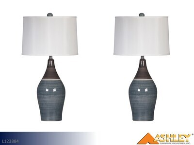 Niobe Multi Gray Lamps by Ashley (Pair)