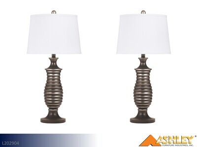 Rory Antique Silver Lamps by Ashley (Pair)