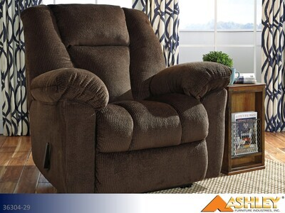 Nimmons Chocolate Recliner by Ashley