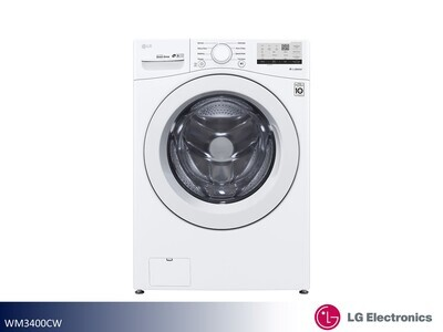 White Front Load Washer by LG (4.5 Cu Ft)