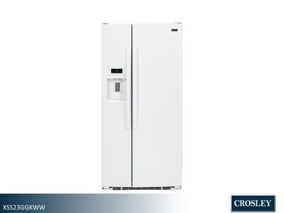 White Side by Side Refrigerator by Crosley (23.2 Cu Ft)