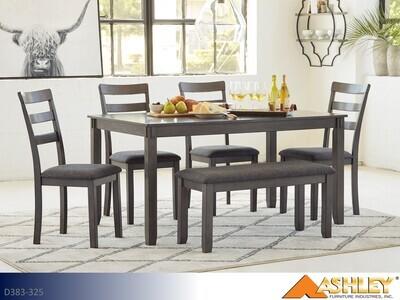 Bridson Gray 7 Pc Dining set by Ashley (7 Piece Set)