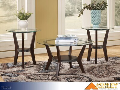 Fantell Dark Brown Occasional Table Set by Ashley (3 Piece Set)