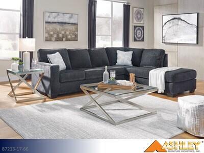 Altari Slate Stationary Sectional by Ashley (2 Piece Set)
