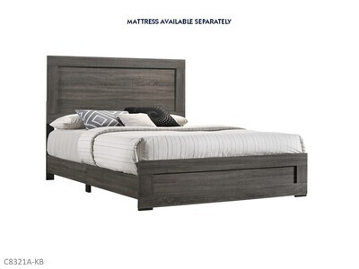 Salt Creek Gray Bed with Headboard Footboard Rails by Lifestyle (King)