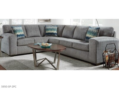 Silverton Pewter Stationary Sectional by Affordable (2 Piece Set)