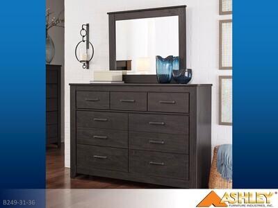 Brinxton Charcoal Dresser with Mirror by Ashley