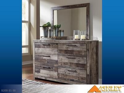 Derekson Multi Gray Dresser with Mirror by Ashley