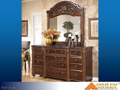 Gabriela Reddish Brown Dresser with Mirror by Ashley