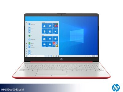 Red-Silver Laptop by HP (15.6