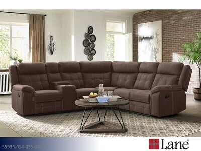 Keystone Brown Stationary Sectional by Lane (3 Piece Set)