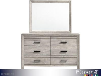 Ellen White Dresser with Mirror by Elements