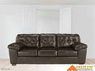 Alliston Chocolate Stationary Sofa by Ashley