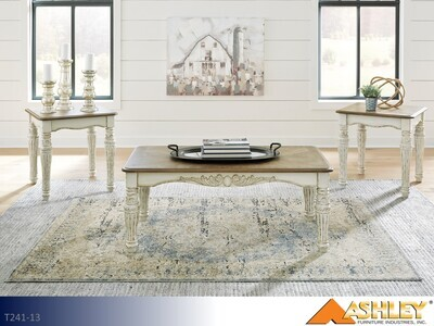 Realyn Two Tone Occasional Table Set by Ashley (3 Piece Set)