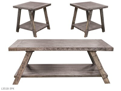 Cloud Gray Occasional Table Set by AWF Imports (3 Piece Set)