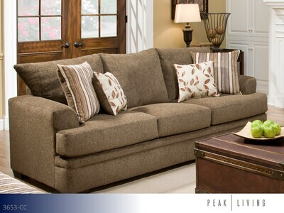 Cornell Cocoa Stationary Sofa by Peak