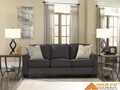 Alenya Charcoal Stationary Sofa by Ashley