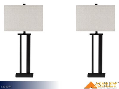 Aniela Bronze Lamps by Ashley (Pair)