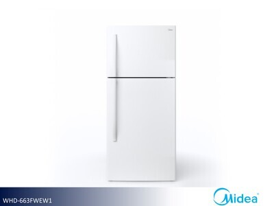 White 18 cu ft Refrigerator with Top Mount Freezer by Midea (18 Cu Ft)