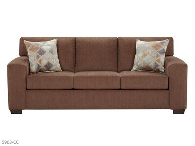 Charisma Cocoa Stationary Sofa by Affordable