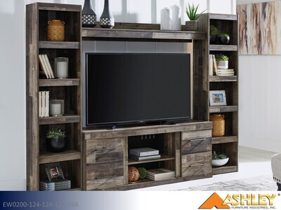Derekson Multi Gray TV Stand by Ashley (Extra Large)