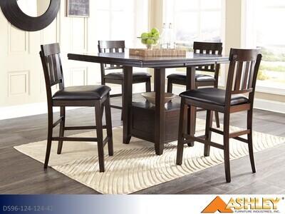 Haddigan Dark Brown 5 Pc Dining Set by Ashley (5 Piece Set)