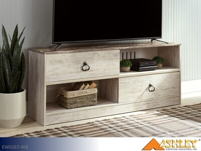 Willowton Whitewash TV Stand by Ashley (Large)
