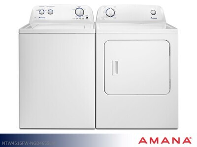White Washer Dryer Set by Amana (3.5 Cu Ft - 6.5 Cu Ft)