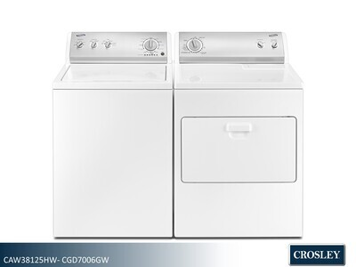 White Washer Dryer Set by Crosley (3.5 Cu Ft - 7.0 Cu Ft)