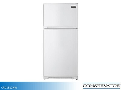 White 18 cu ft Refrigerator with Top Mount Freezer by Conservator (18.2 Cu Ft)