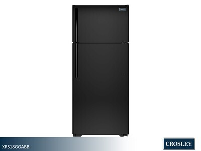Black 18 cu ft Refrigerator with Top Mount Freezer by Crosley (17.5 Cu Ft)
