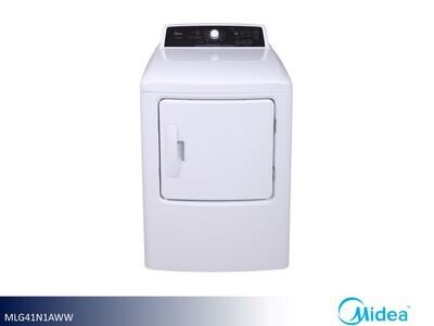 White Gas Dryer by Midea (6.7 Cu Ft)