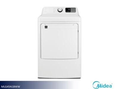 White Gas Dryer by Midea (7.5 Cu Ft)