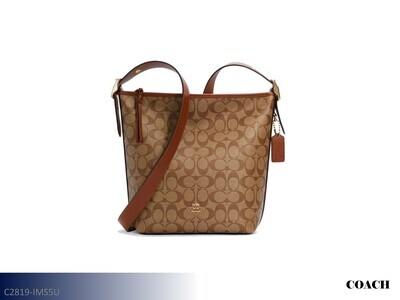 Val Khaki-Redwood Handbag by Coach (Duffle)