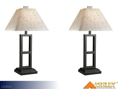 Deidra Black Lamps by Ashley (Pair)
