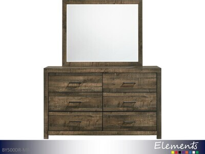 Bailey Dresser with Mirror by Elements (2 Piece Set)