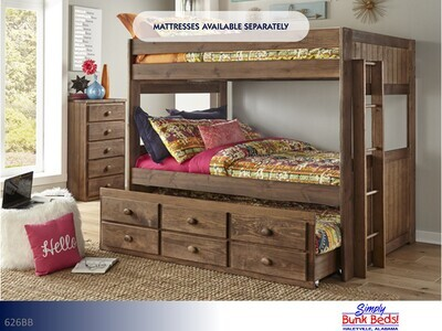Chestnut Bunk Bed by Simply Bunk Beds (Full-Full)