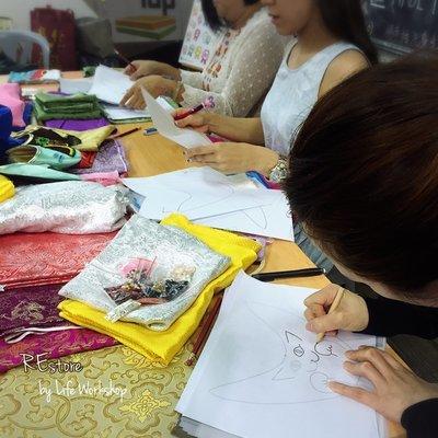 REstore0314-繡花拖鞋進階製作班(珠子刺繡及鞋面設計)