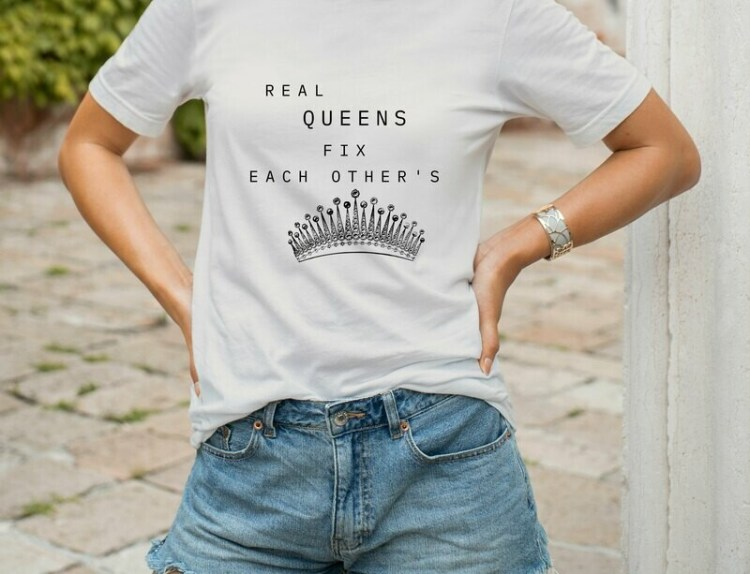 White Oversized LUX WMN T-Shirt