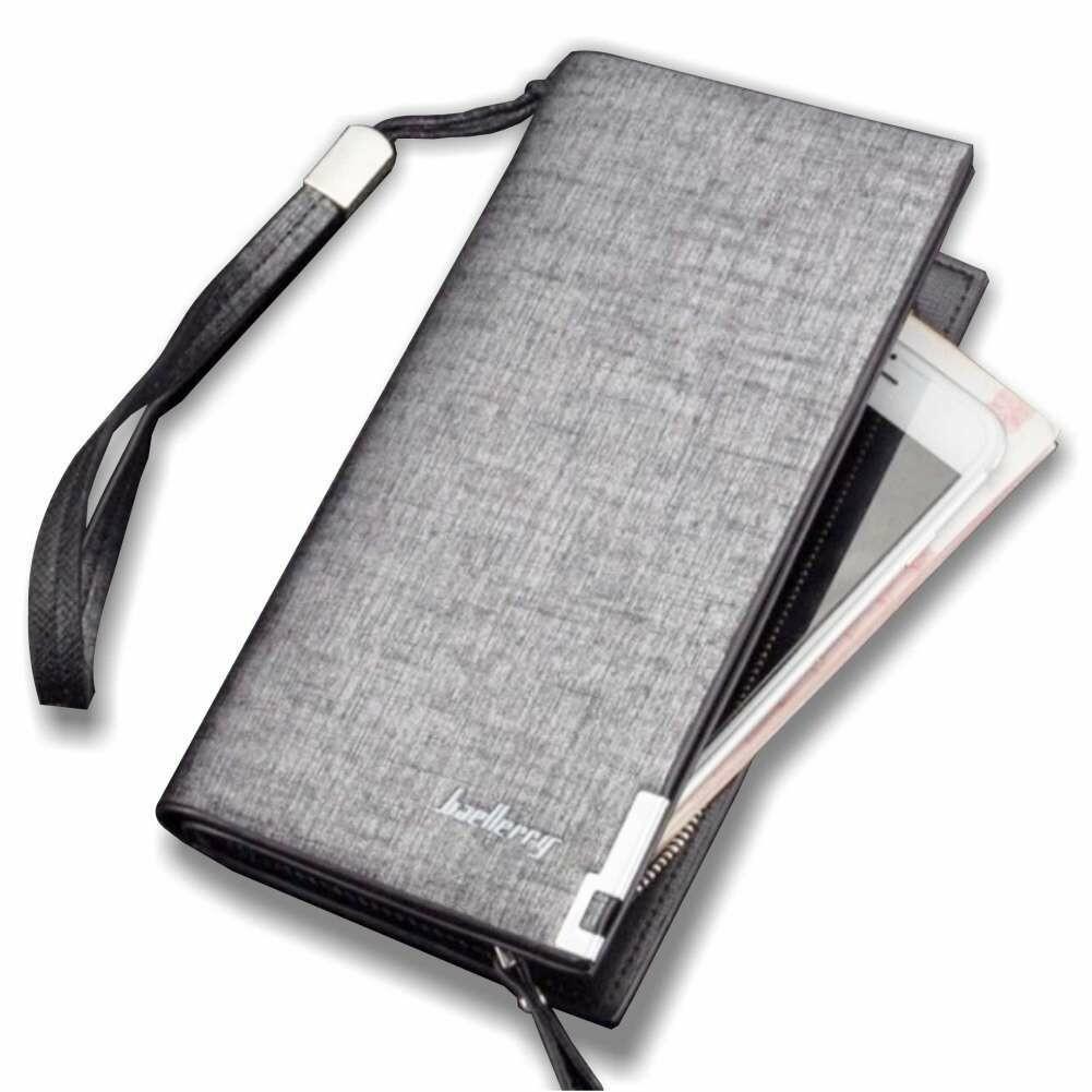 Baellery Leather Wallet-Gray