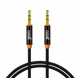 Cable Jack 3.5 mm a Jack 3.5 mm COOL Audio-Audio Nylon Negro (1m)