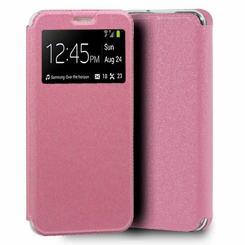 Funda COOL Flip Cover para Samsung A105 Galaxy A10 Liso Rosa